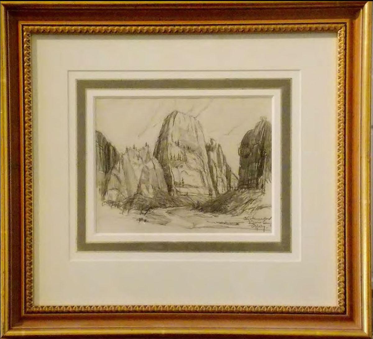 LeConte Stewart zions-canyon