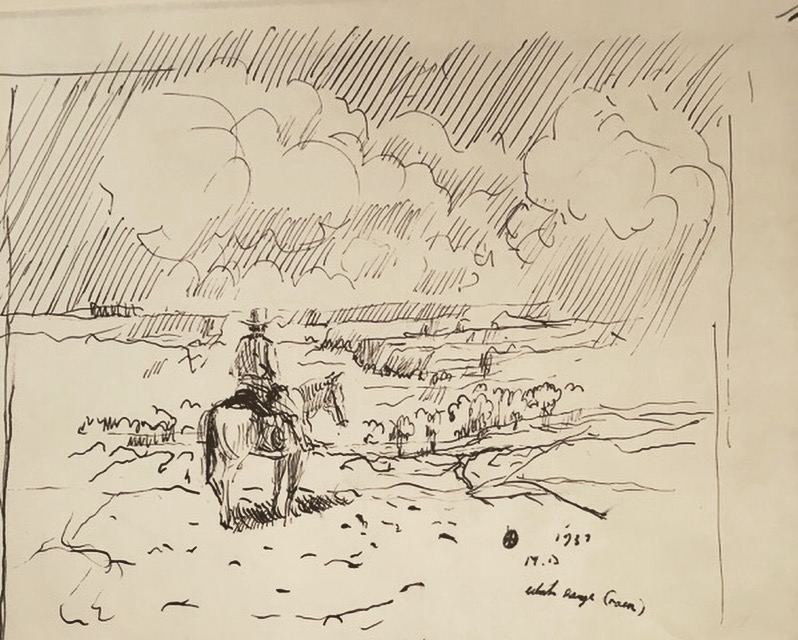 Rain Fine Art Drawing