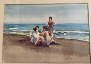 Seascape with Three People